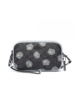 SIGNATURE ROSE PRINT CROSSBODY