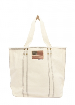 RALPH LAUREN - LG FLAG TOTE SMALL