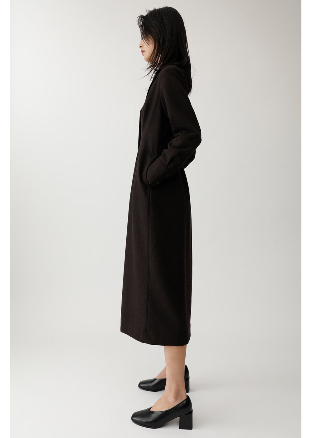 【最大60%OFF】TUCK WAIST LONG DRESS|D/BRN|マキシワンピース|MOUSSY