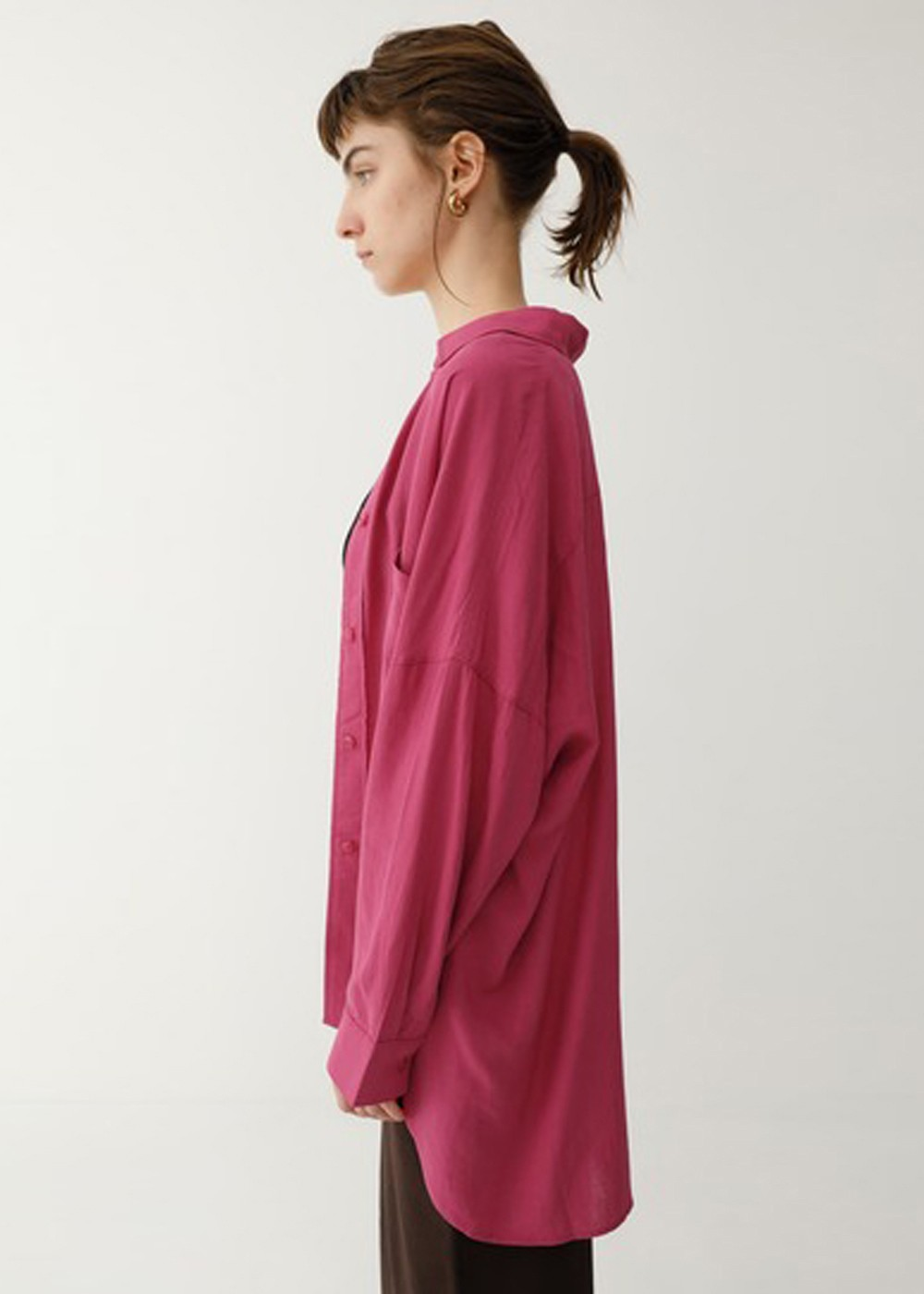 【最大60%OFF】OVER SILHOUETTE SHIRT|PNK|シャツ|MOUSSY