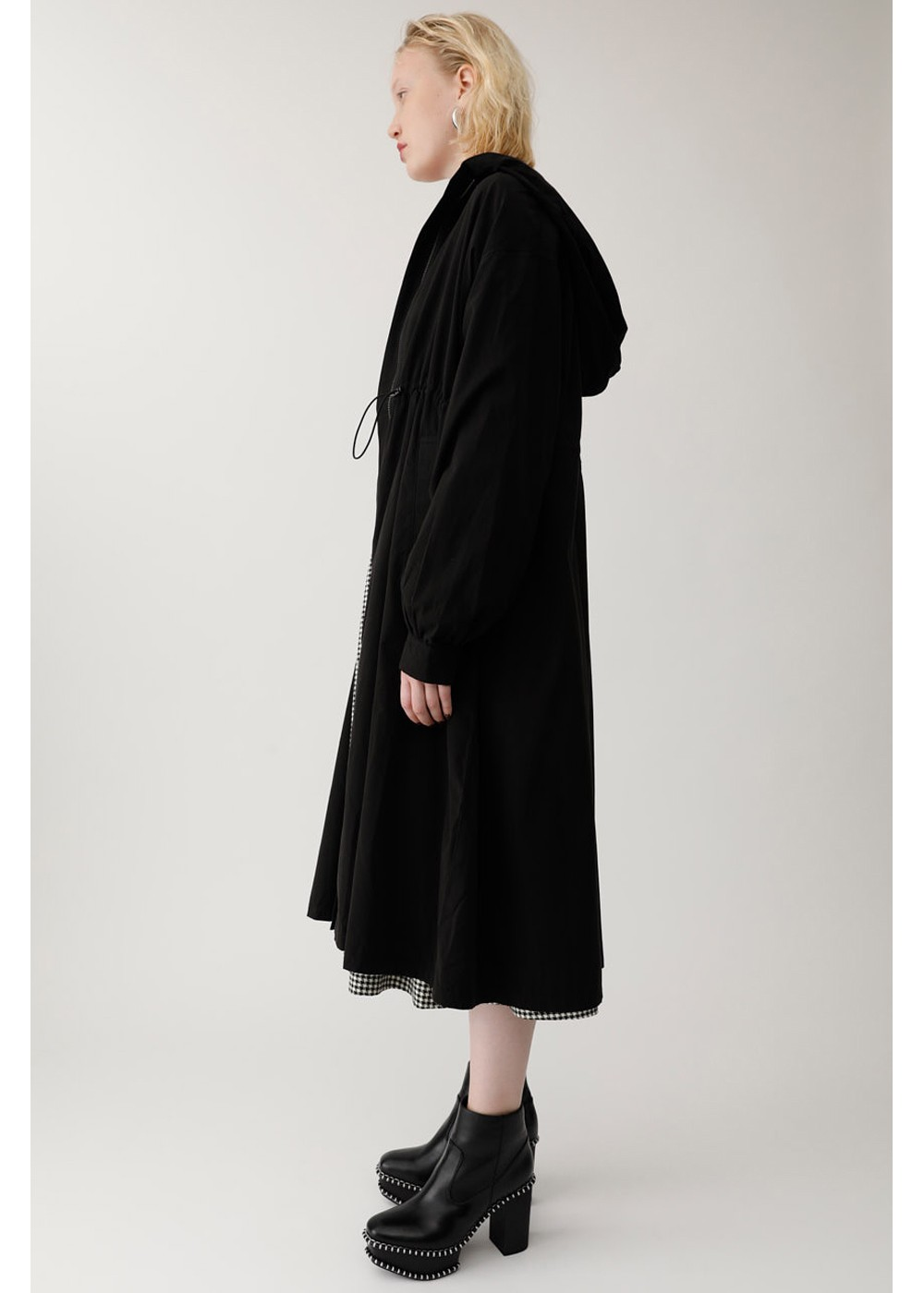 【最大60%OFF】HOODIE LONG COAT|BLK|モッズコート|MOUSSY