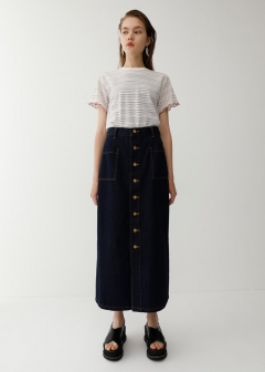 BUTTON UP LONG SKIRT