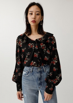 FLOWER RUFFLE BLOUSE