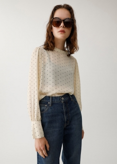 TINY DOT BLOUSE