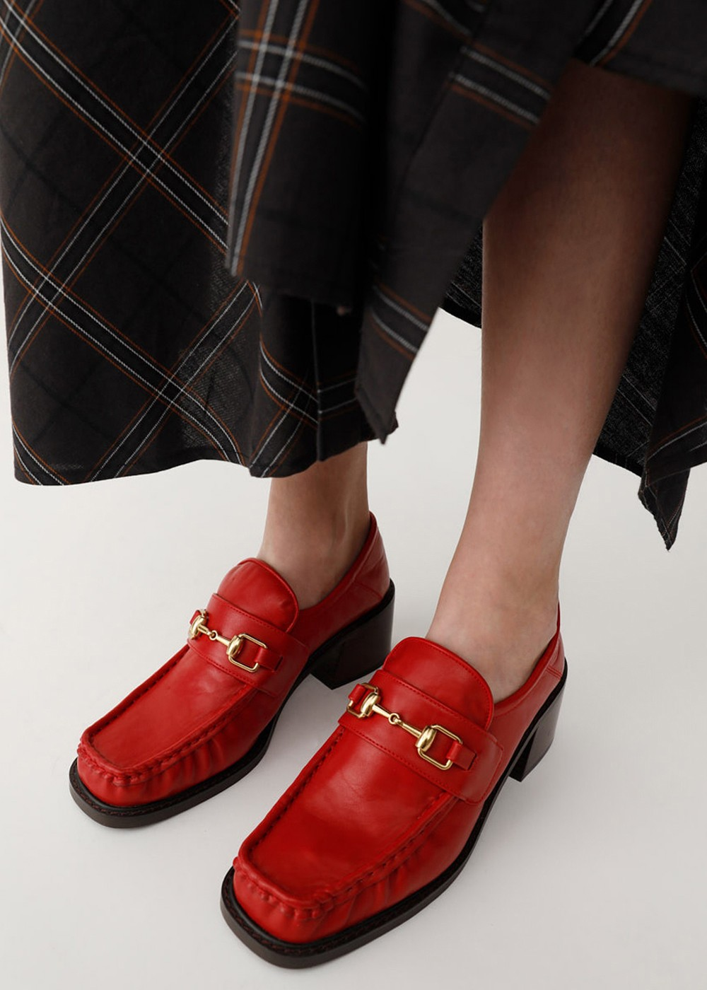 【最大60%OFF】BLOCK HEEL LOAFERS|RED|その他シューズ|MOUSSY