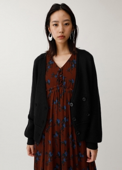 HOUND TOOTH SHORT CARDIGAN
