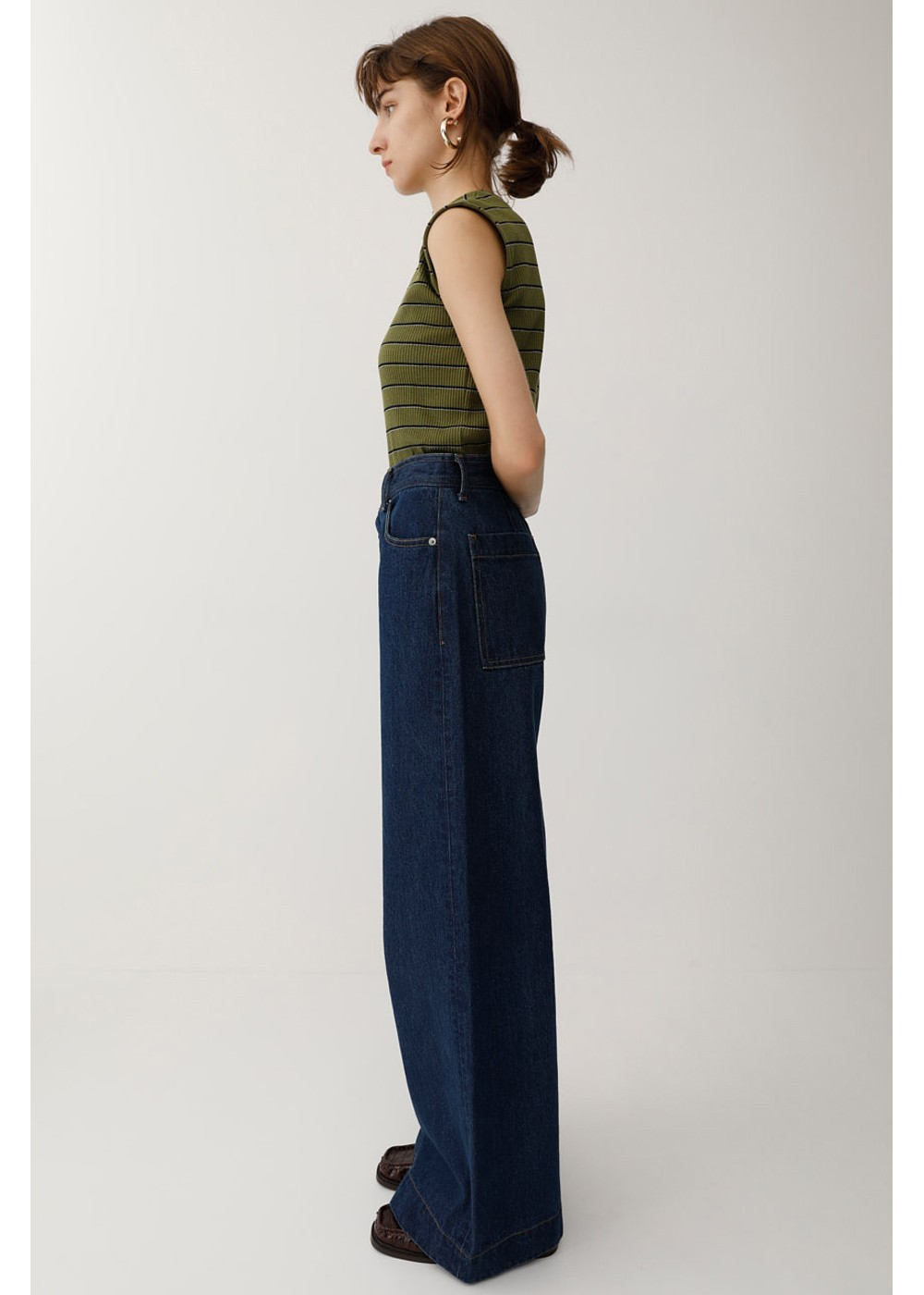 【最大60%OFF】RETRO BLU HIGH WAIST WIDE|BLU|デニムパンツ|MOUSSY