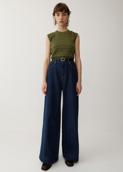 RETRO BLU HIGH WAIST WIDE