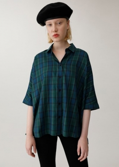 【最大60%OFF】SHADOW CHECK RELAX SHIRT|柄GRN|シャツ|MOUSSY