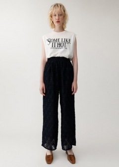 CUT JACQUARD PANTS