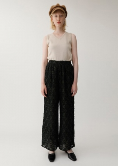 【最大60%OFF】CUT JACQUARD PANTS|NVY|ワイド|MOUSSY