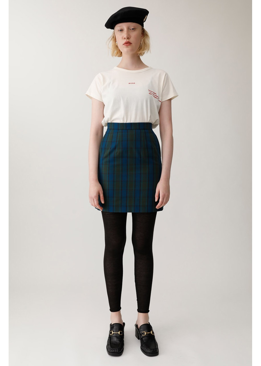 【最大60%OFF】SHADOW CHECK MINI SKIRT|柄GRN|ミニスカート|MOUSSY