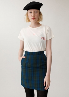 SHADOW CHECK MINI SKIRT