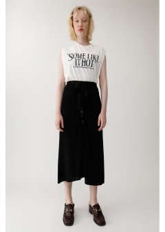 FRONT BUTTON KNIT SKIRT