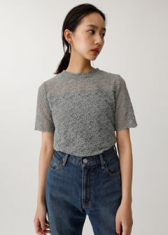 STRETCH LACE H/N TEE