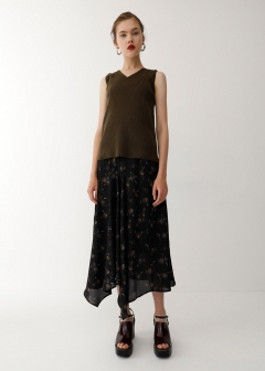 FLOWER ASYMMETRY SKIRT