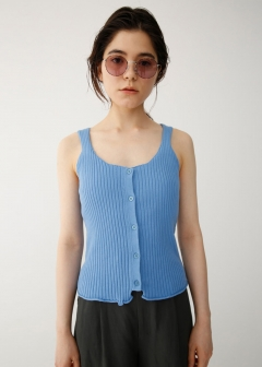 FRONT BUTTON KNIT CAMI