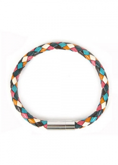 Paul Smith - men's collection - - ブレスレット ポールスミス レザーブレスレット / バングル Multi-Colored Leather Plaited Bracelet