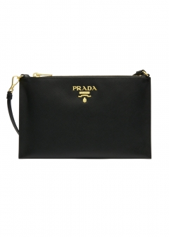 PRADA - LEATHER CLUTCH BAG