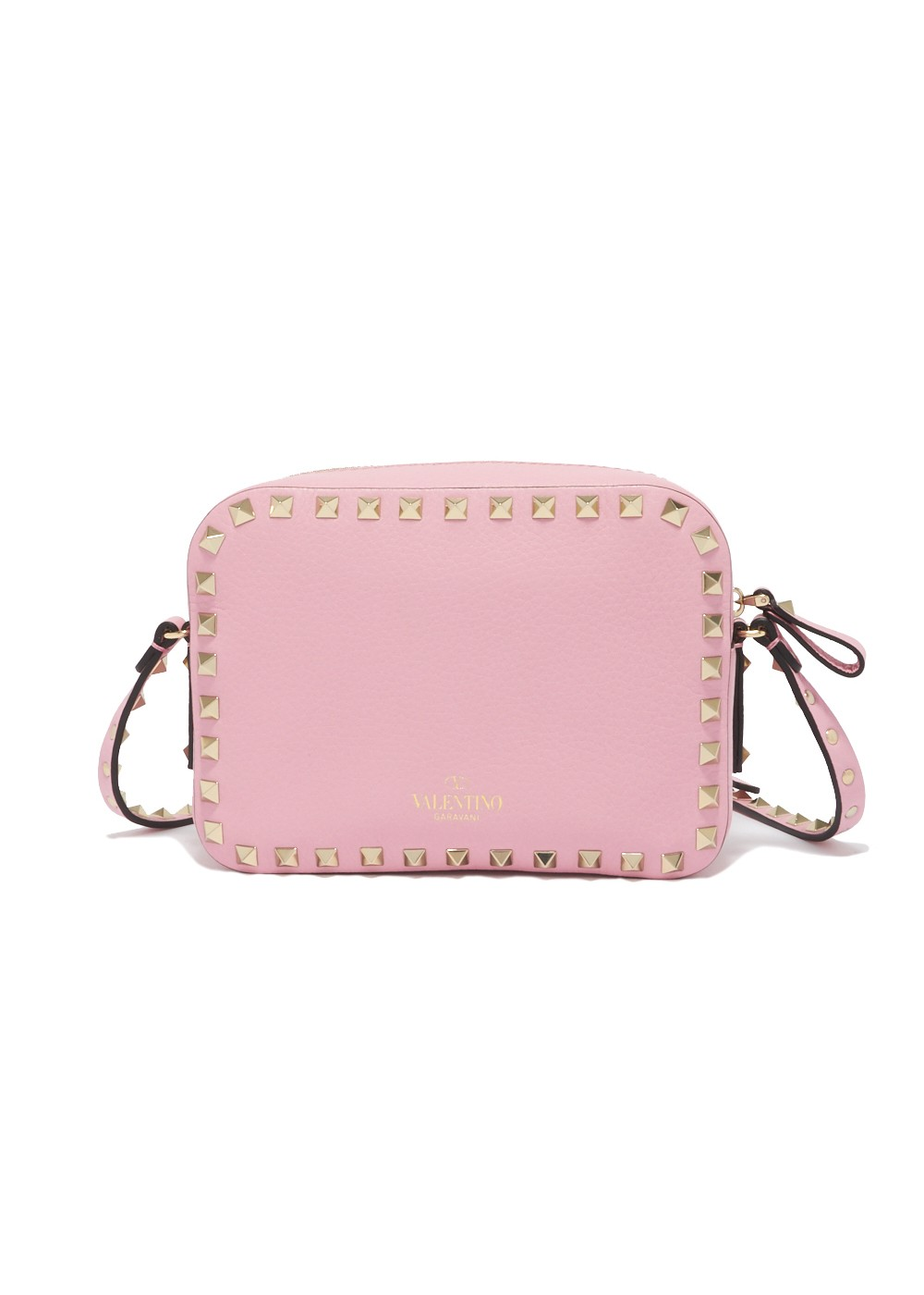 【最大32%OFF】ROCKSTUD EMBOSSED CROSS BODY BAG|ABSOLUTE ROSE|ショルダーバッグ|VALENTINO_(TI)