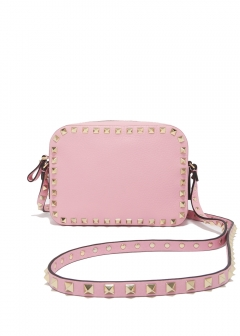 VALENTINO - ROCKSTUD EMBOSSED CROSS BODY BAG
