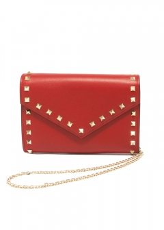 VALENTINO - ROCKSTUD ZIP AROUND WALLET