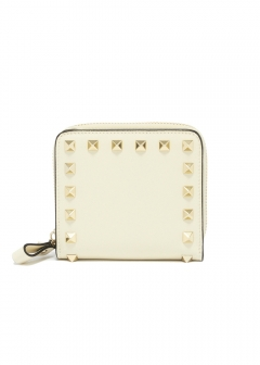 ROCKSTUD COMPACT ZIPPED WALLET