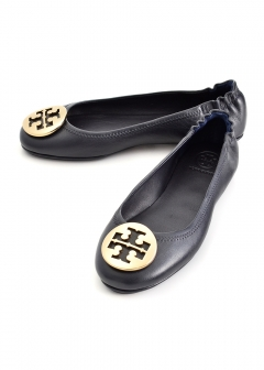 【最大46%OFF】MINNIE TRAVEL BALLET WITH LOGO 【DENIM/TORY NAVY】|DENIM/TORY NAVY|フラットシューズ|【週末限定】Tory Burch - Shoes Collection -