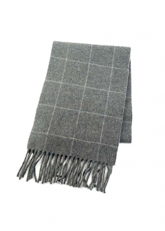 REVERSIBLE WINDOWPANE SCARFマフラー