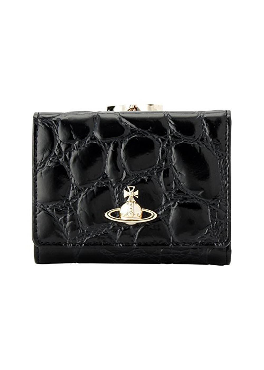 b745101d7f01 ... ヴィヴィアン・ウエストウッド Vivienne Westwood 財布 三つ折り 51010018-40249 BLACK 金具ゴールド ...