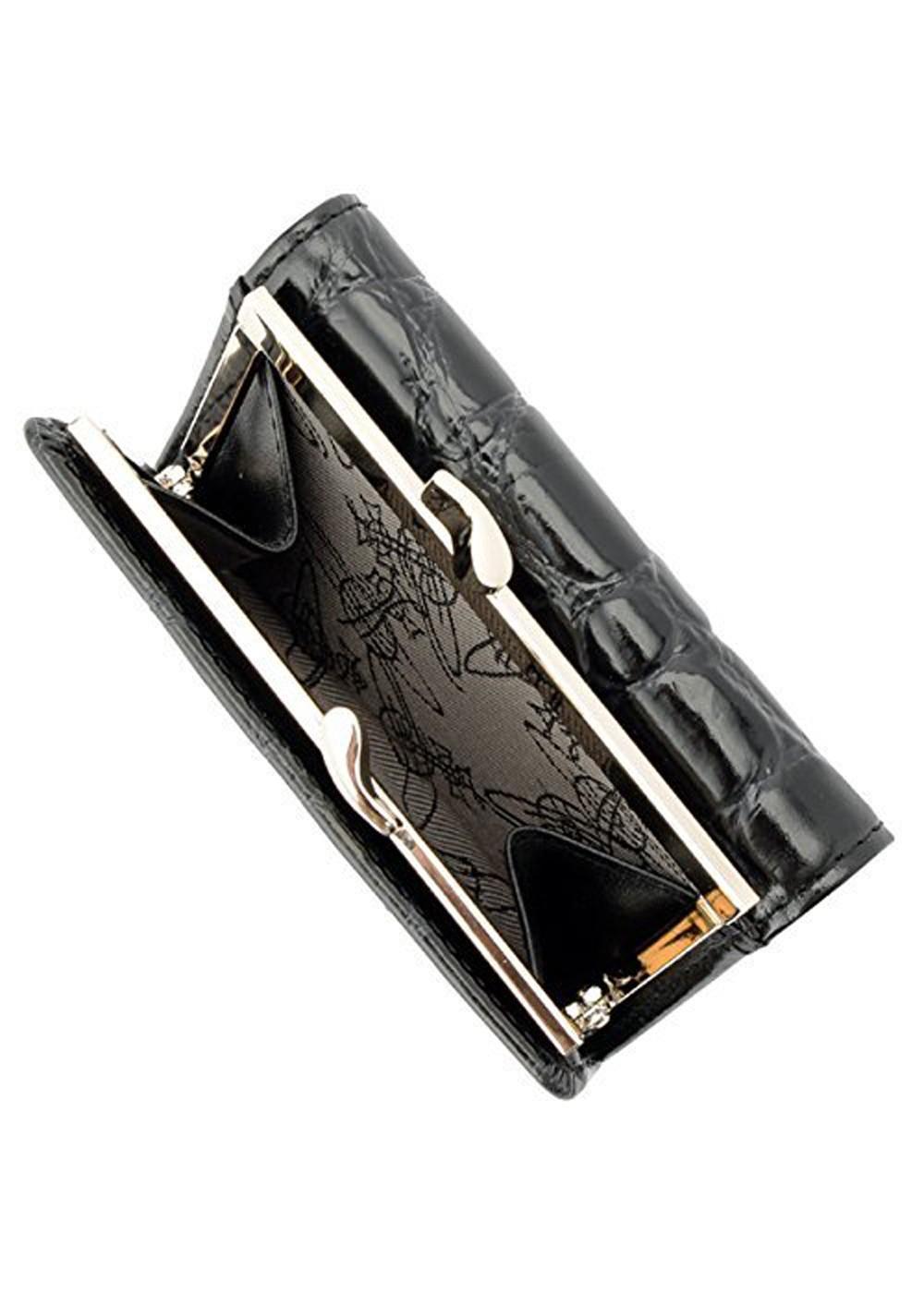dc2ac2d19cba ヴィヴィアン・ウエストウッド Vivienne Westwood 財布 三つ折り 51010018-40249 BLACK 金具ゴールド ...