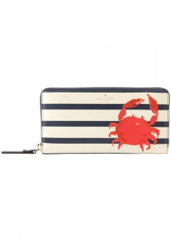 kate spade new york - wallet and more - 長財布 ラウンドファスナー カニ柄 pwru6290