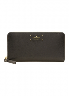 kate spade new york - wallet and more - 長財布 ラウンドファスナー wlru2820-001 アウトレット レディース