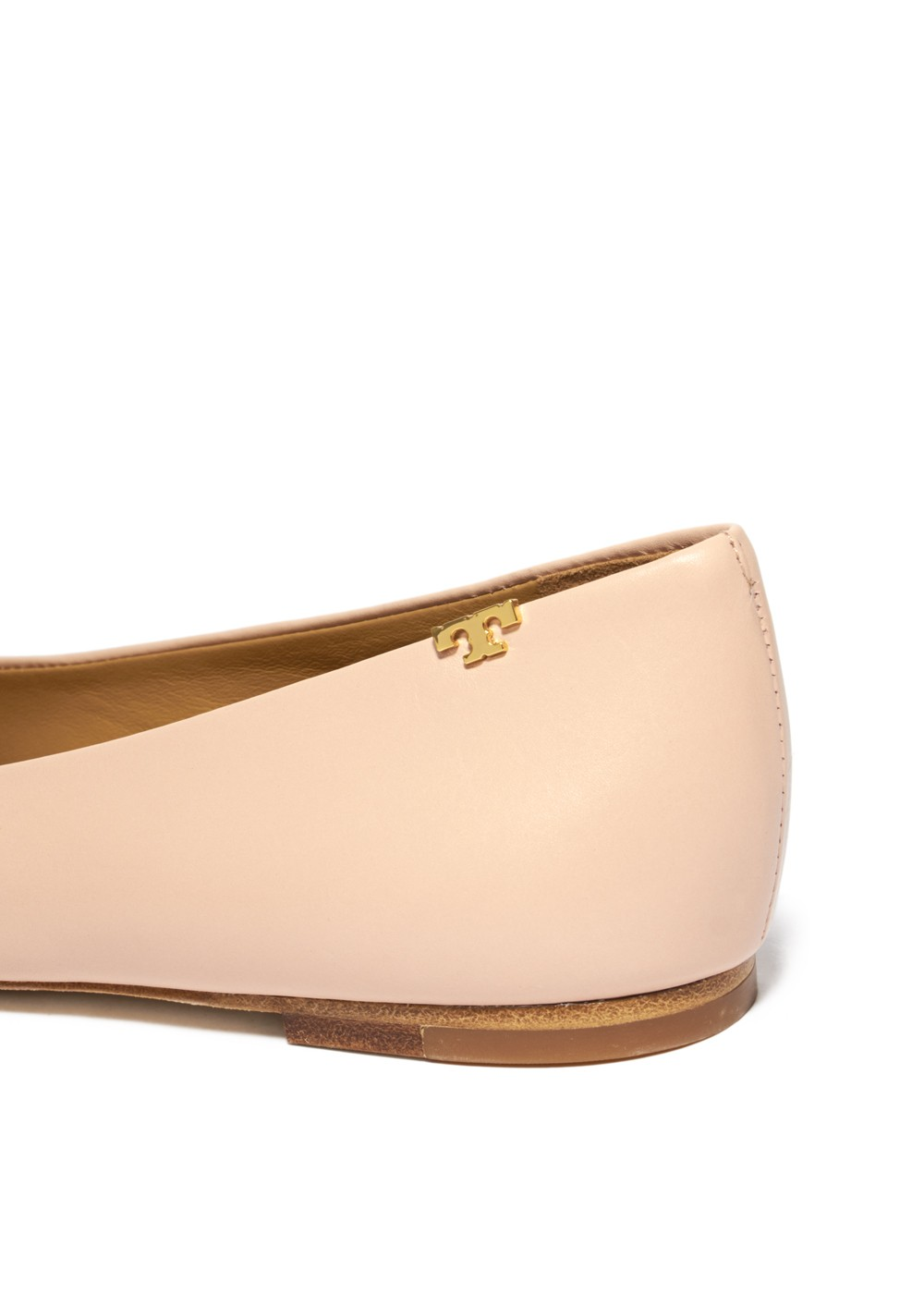 【最大48%OFF】PENELOPE CAP-TOE FLAT|SEA SHELL PINK/PERFECT BLACK|フラットシューズ|Tory Burch