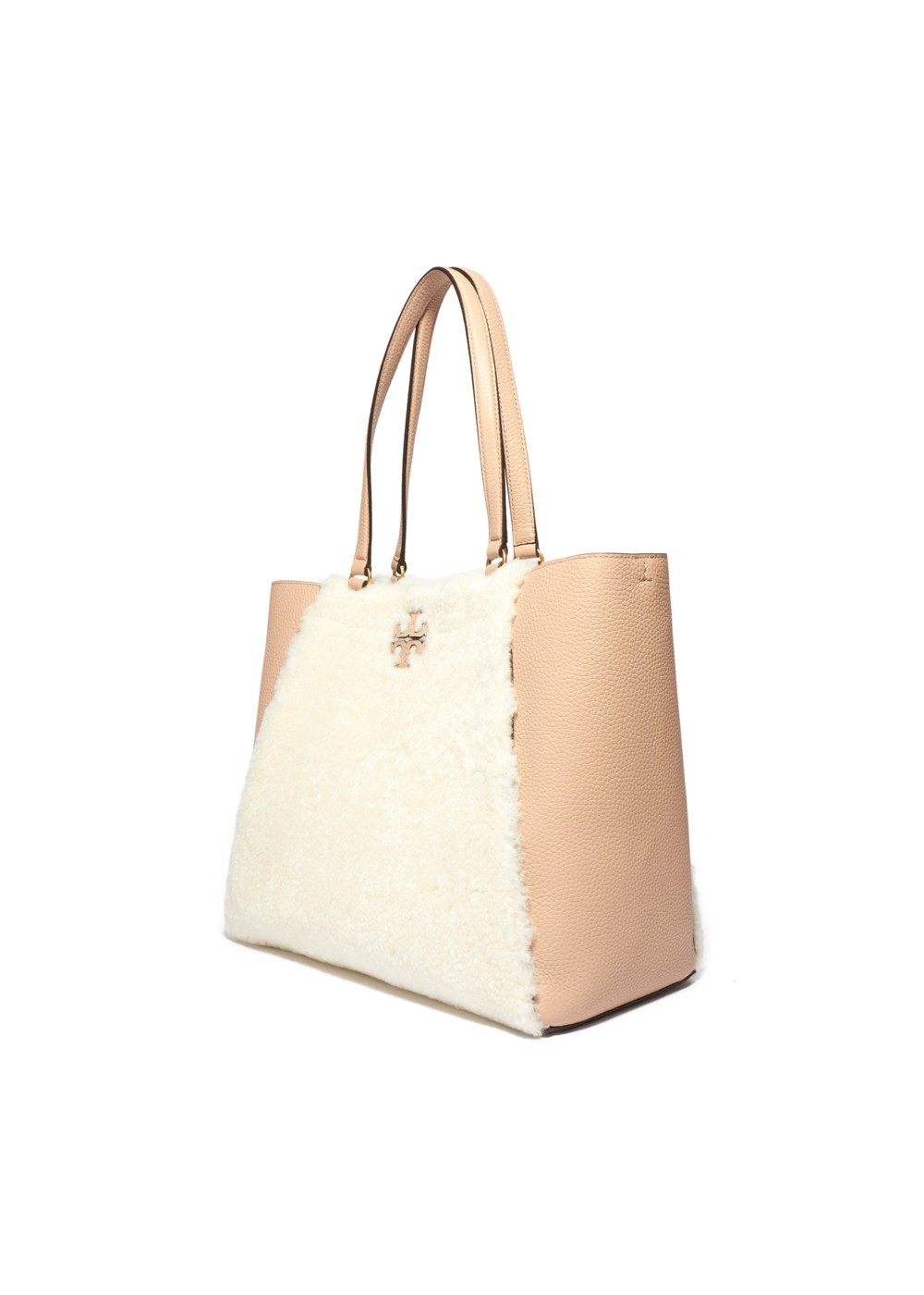 【最大48%OFF】MCGRAW SHEARLING CARRYALL|IVORY/DEVON SAND|トートバッグ|Tory Burch