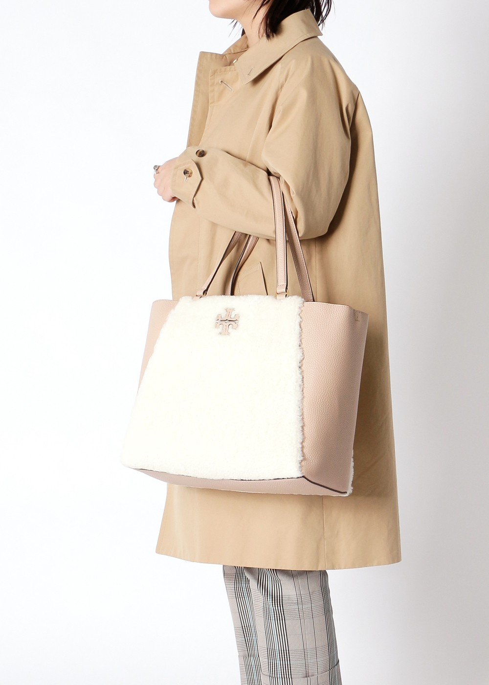 TORY BURCH|トリバーチ|MCGRAW|マックグロー|SHEARLING CARRYALL