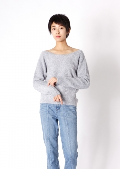 mix knit pullover