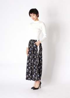 paint flower wide pants