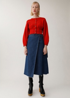 DENIM WRAP SKIRT