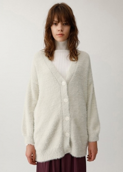 SHAGGY MIDDLE CARDIGAN