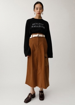 BELTED MILITARY SKIRT