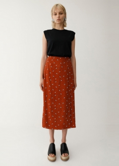 SIDE BUTTON SKIRT