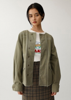 COLLARLESS MILITARY JACKET