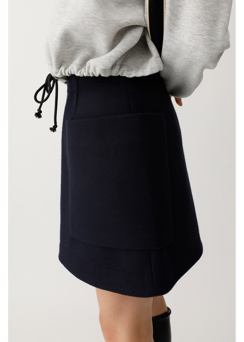 【最大60%OFF】PATCH POCKET MINI SKIRT|NVY|ミニスカート|MOUSSY