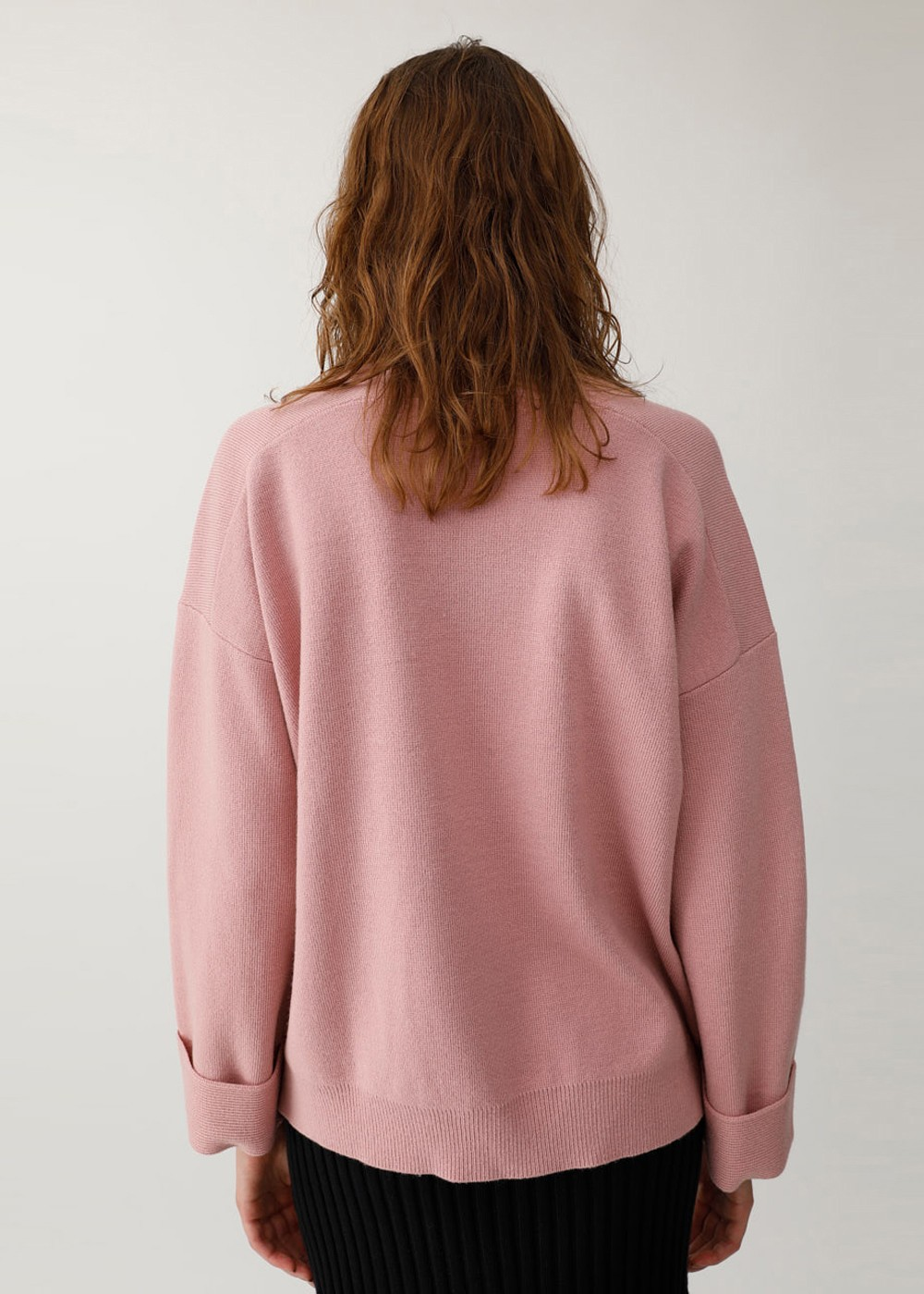 【最大60%OFF】V NECK KNIT|L/PNK|ニット|MOUSSY