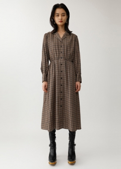 OPEN COLLAR SHIRT DRESS