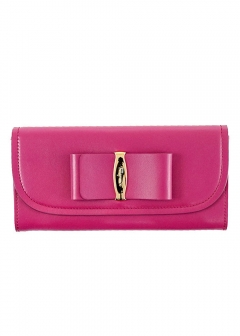 OVERSIZED VARA BOW CONTINENTAL WALLET 長財布
