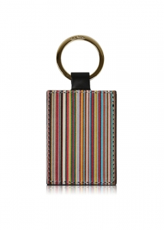 Paul Smith - men's collection - - 【11/27入荷】PAUL SMITH キーホルダー ポールスミス MULTI STRIPE LEATHER KEYRING
