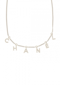 VINTAGE BRAND COLLECTION - CHANEL ロゴネックレス 新型 B13P
