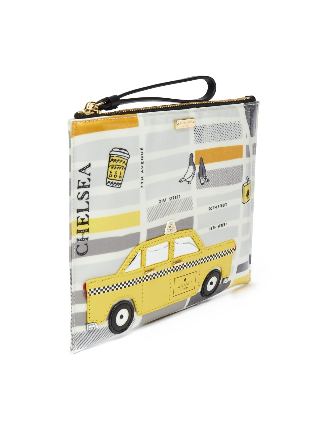【最大48%OFF】【'19春夏新作】NOUVEAU YORK TAXI MEDIUM BELLA POUCH|MULTI|ポーチ|kate spade new york - wallet and more